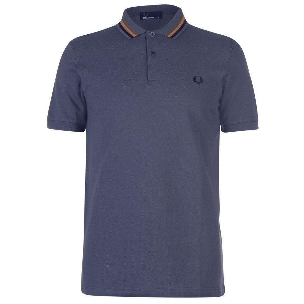フレッドペリー Fred Perry メンズ トップス ポロシャツ【Fred Bomber Striped Polo Shirt】Grey