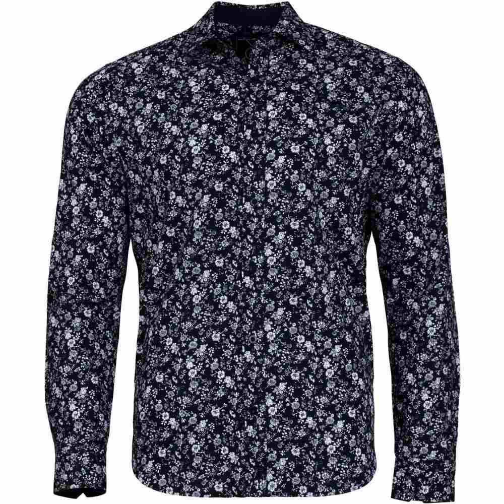 ライジング ブル Raging Bull メンズ トップス シャツ【Big And Tall 2 Colour Floral Print Shirt】Navy