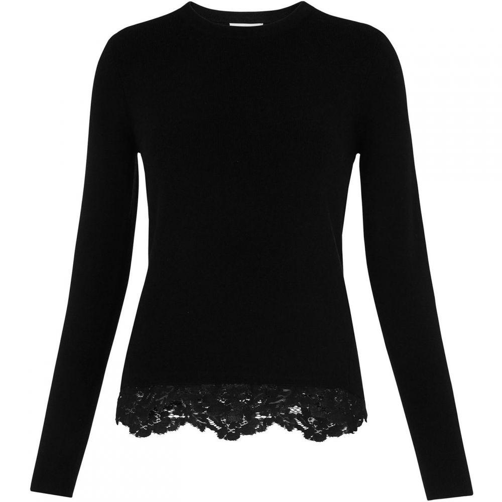 ホイッスルズ Whistles レディース トップス ニット・セーター【Lace Hem Knit】Black