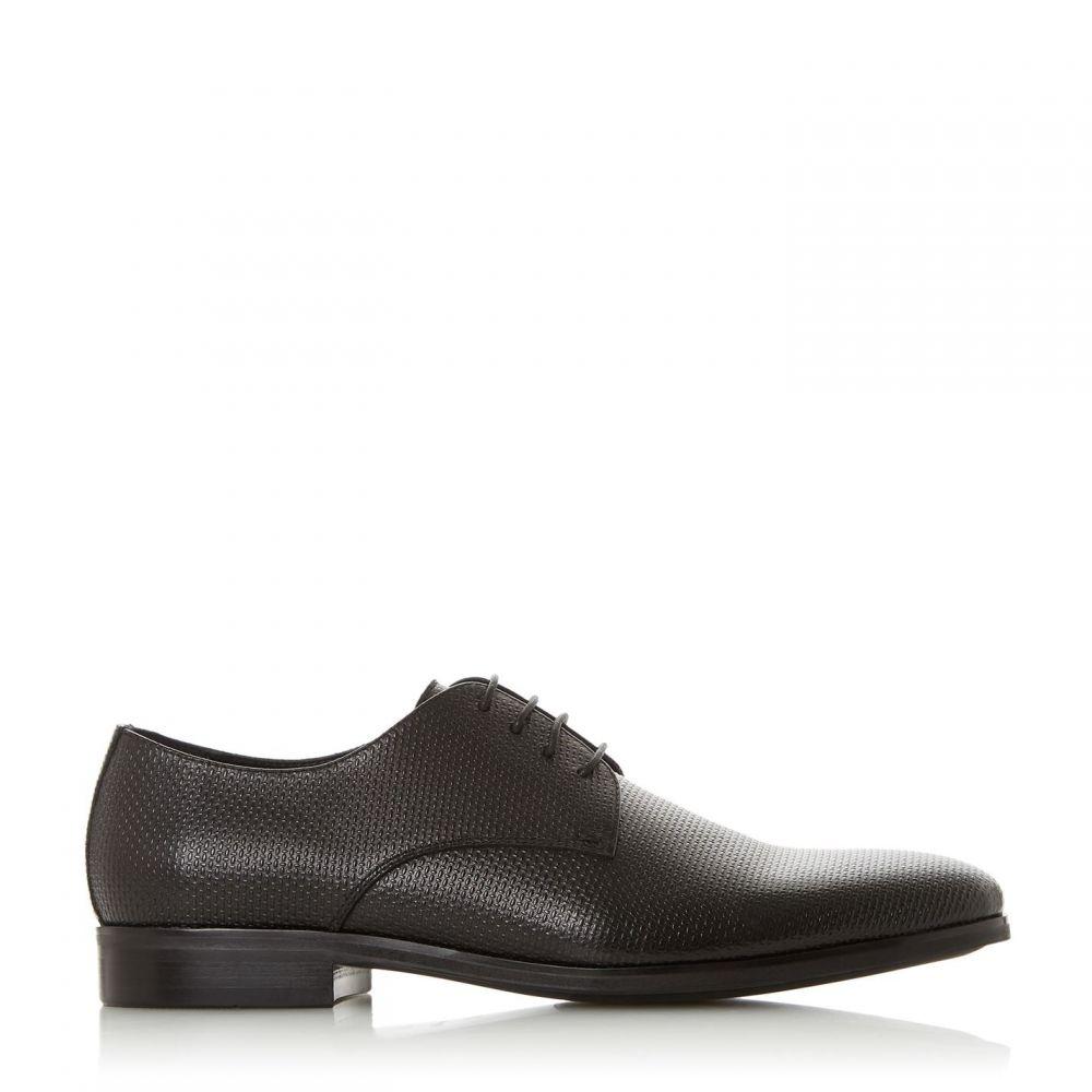 デューン Dune メンズ シューズ・靴 【slate leather embossed shoes】BLACK