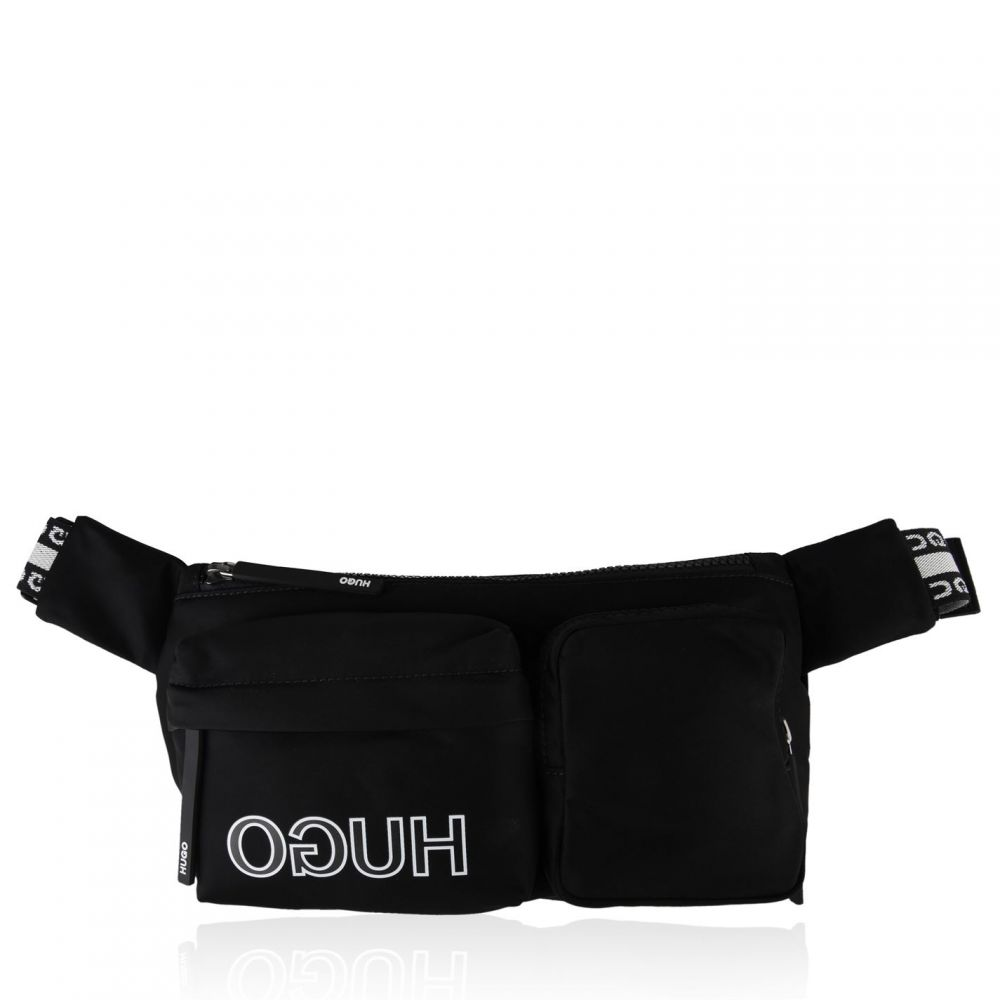 ヒューゴ ボス Hugo メンズ ボディバッグ・ウエストポーチ バッグ【reverse logo nylon belt bag】Black