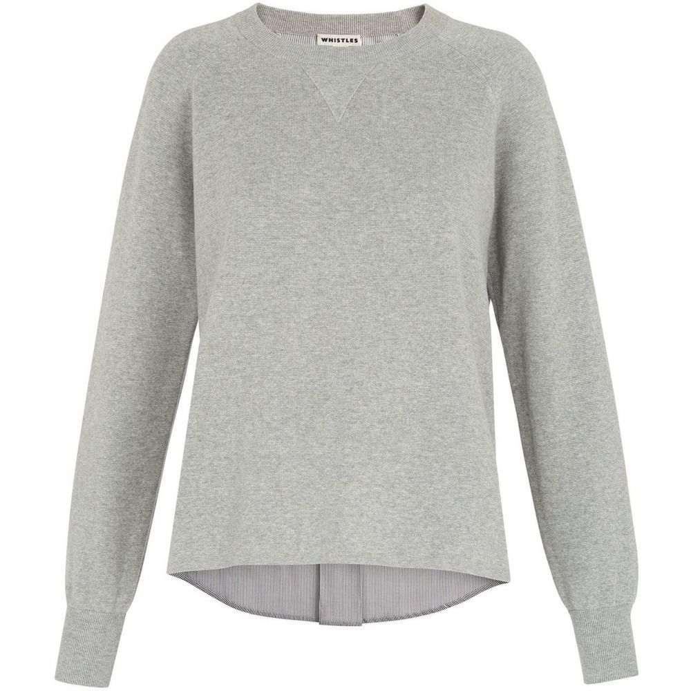 ホイッスルズ Whistles レディース ニット・セーター トップス【two in one stripe knit】Grey