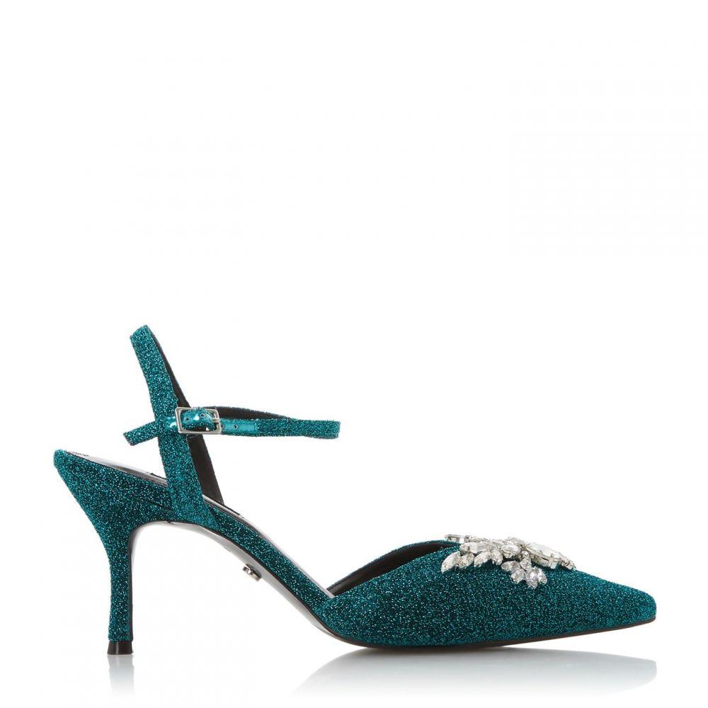 デューン Dune レディース パンプス シューズ・靴【chrystalise embellished pointed toe court shoes】Teal