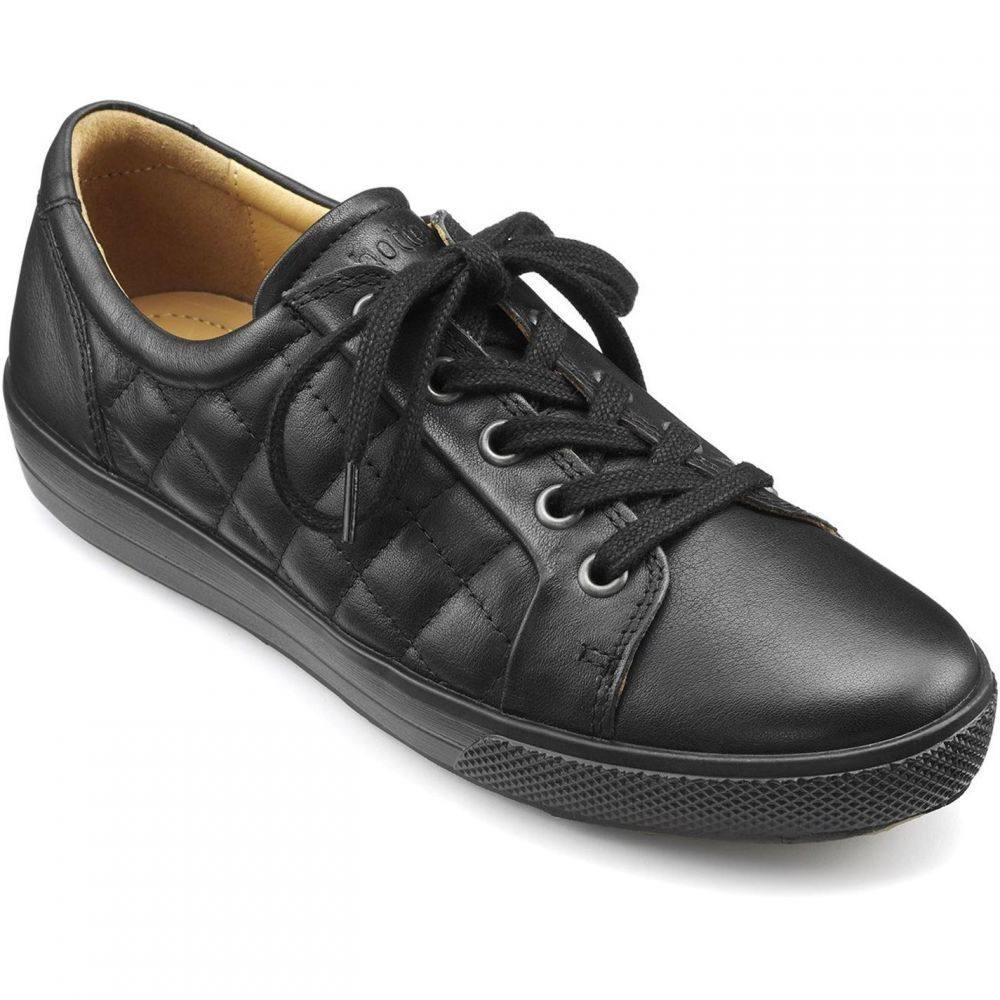 フーター Hotter レディース シューズ・靴 レースアップ【brooke lace up casual shoe】Black Quilted