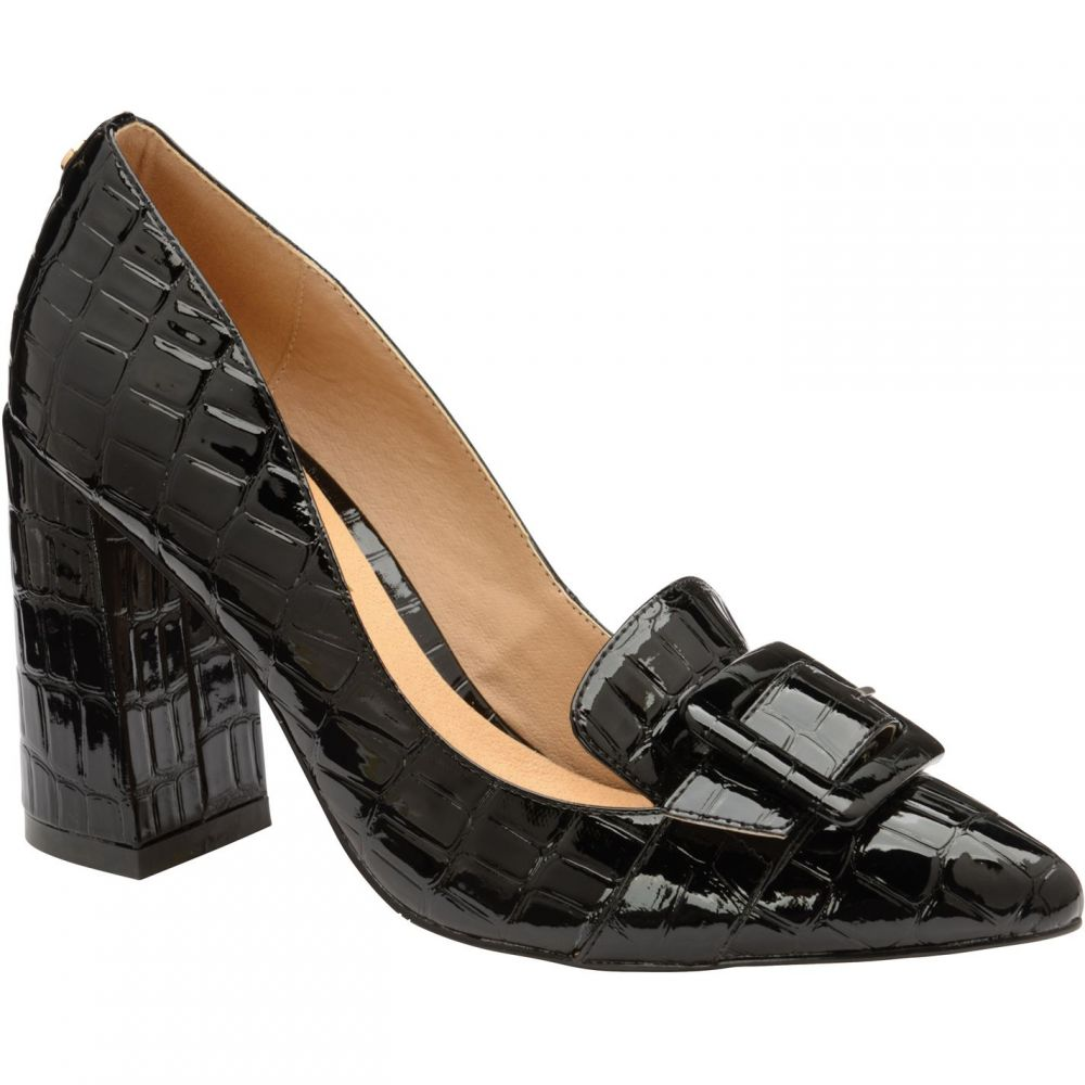 ラヴェル Ravel レディース パンプス シューズ・靴【lincoln block heel court shoes】Black croc