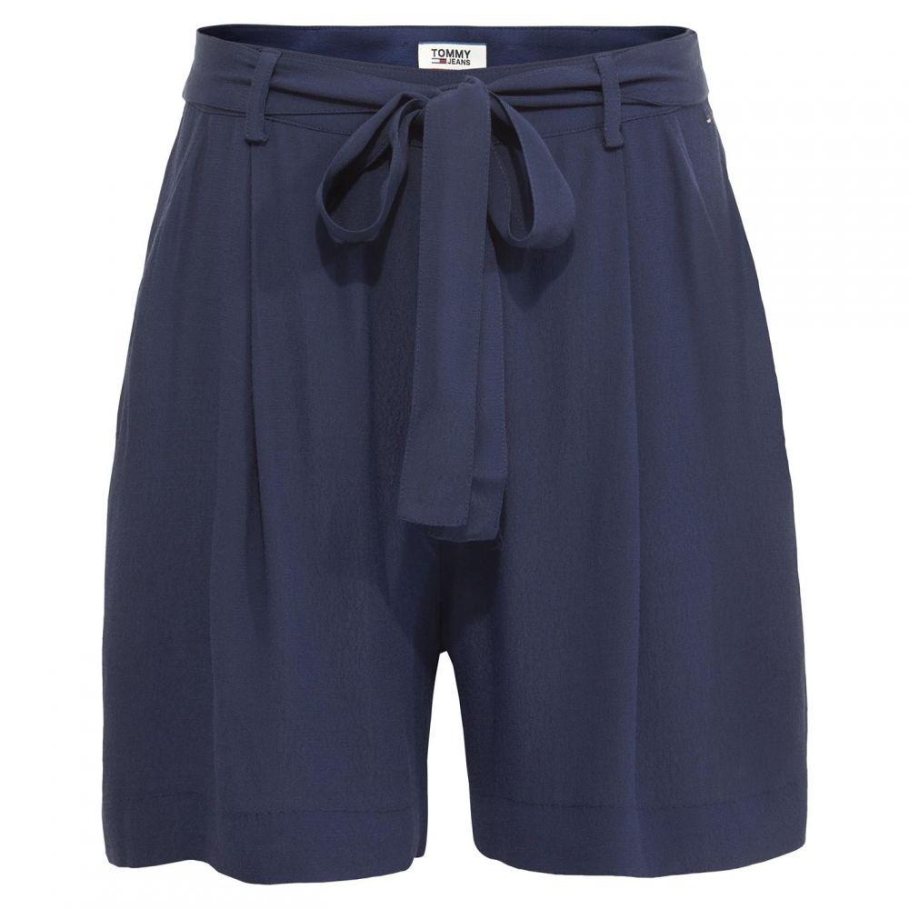 トミー ジーンズ Tommy Jeans レディース ショートパンツ ボトムス・パンツ【fluid bow shorts】Black Iris