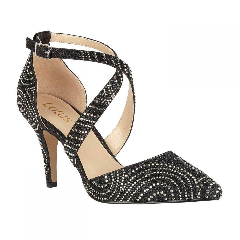 ロータス Lotus レディース パンプス シューズ・靴【latoya diamante court shoes】Black/Diamante