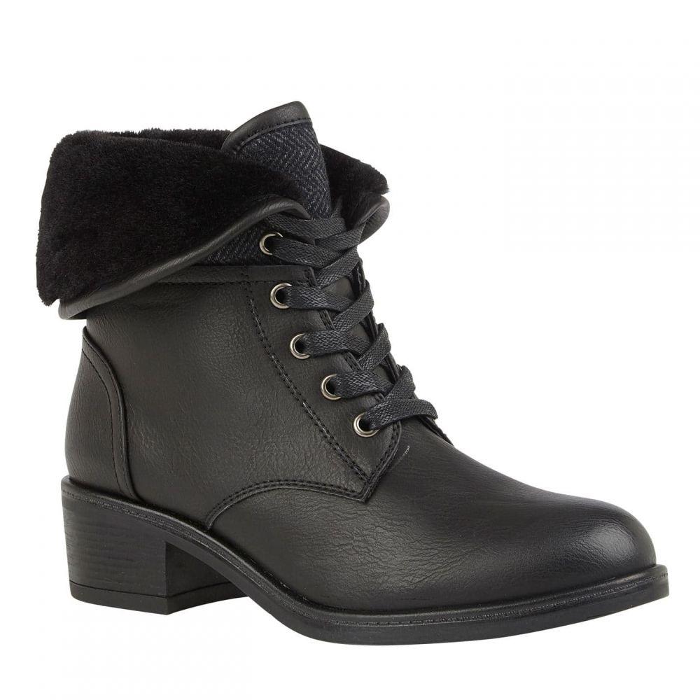 ロータス Lotus レディース ブーツ レースアップブーツ シューズ・靴【althea lace-up heeled boots】Black