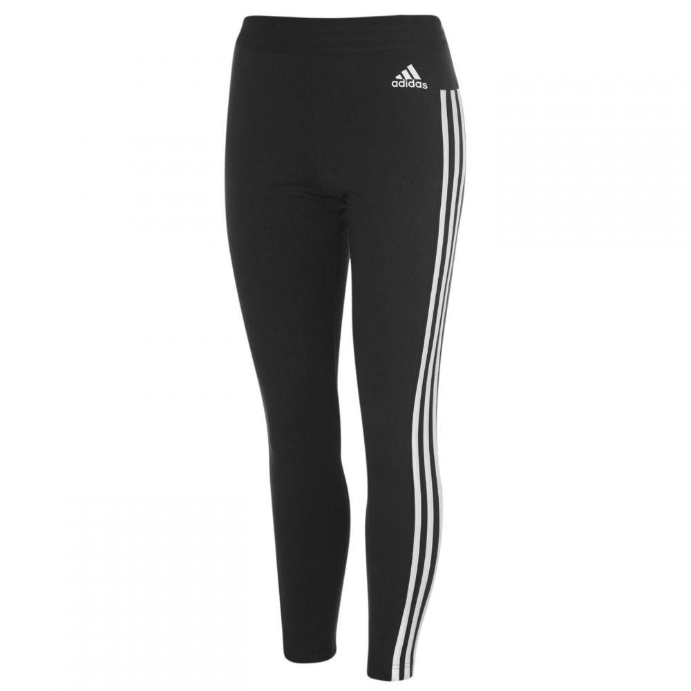 アディダス adidas レディース スパッツ・レギンス インナー・下着【3 Stripe Leggings】Black/White