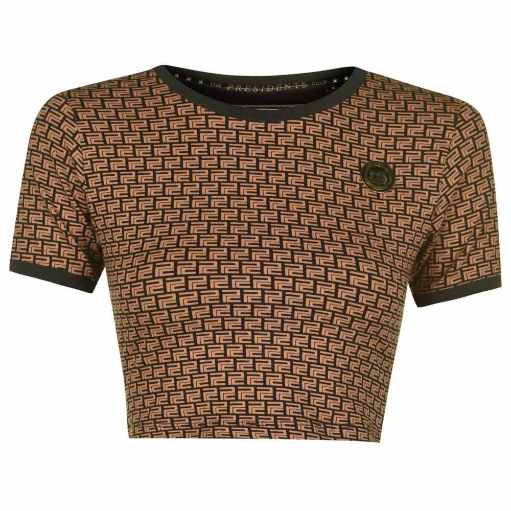 プレジデントクラブ Presidents Club レディース Tシャツ トップス【Panther T Shirt】Brown