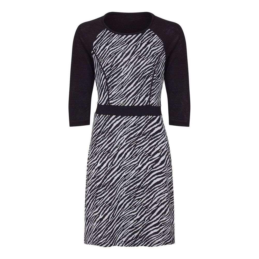 ユミ Yumi レディース ワンピース ワンピース・ドレス【Wild Zebra Dress】Black