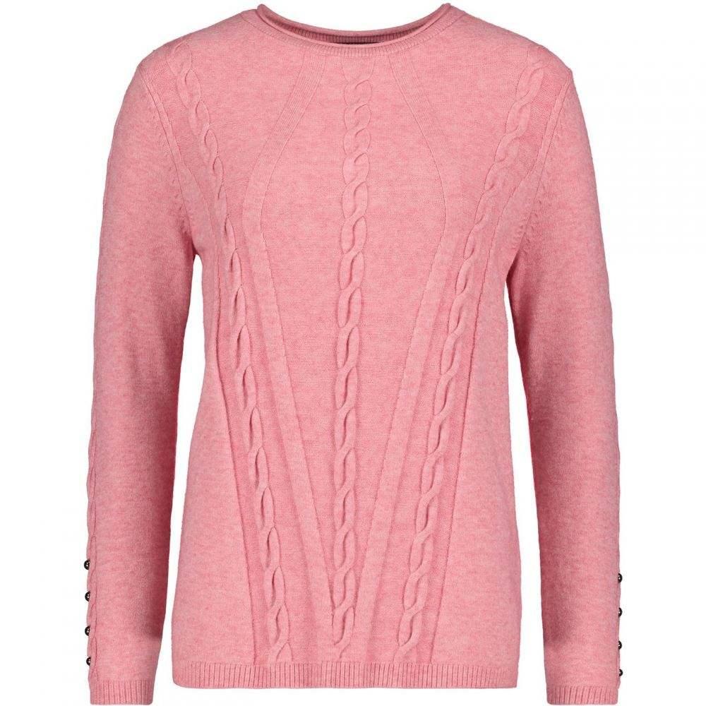 ベティー バークレイ Betty Barclay レディース ニット・セーター トップス【Cable knit jumper】Rose Melange