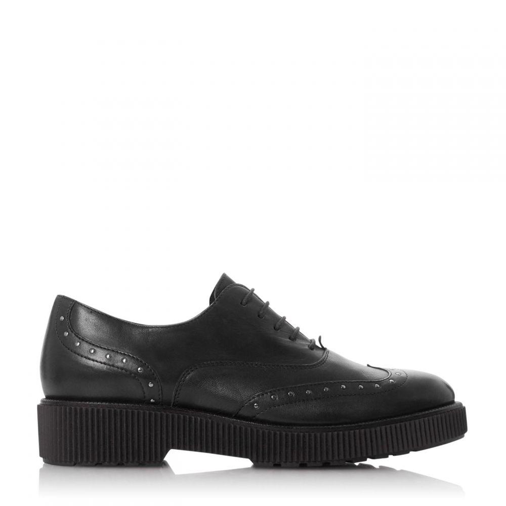 バーティ Bertie レディース シューズ・靴 レースアップ【Filetch Studded Ribbed Lace Up Shoes】Black