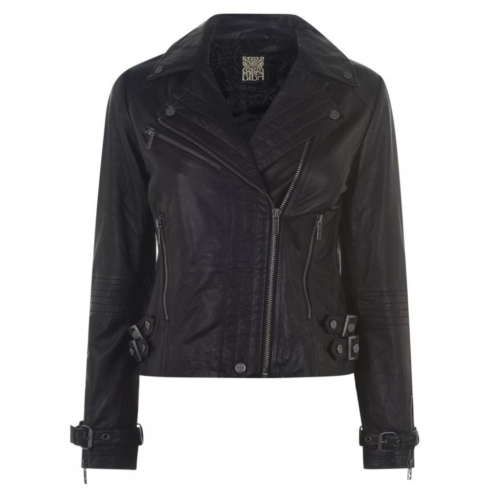 ビバ Biba レディース レザージャケット アウター【Leather Jacket】Black