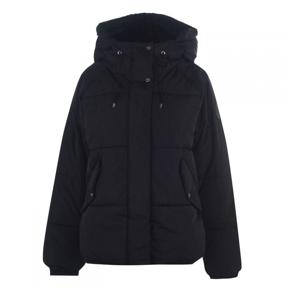ダナ キャラン ニューヨーク DKNY レディース ダウン・中綿ジャケット アウター【Padded Jacket】BLACK