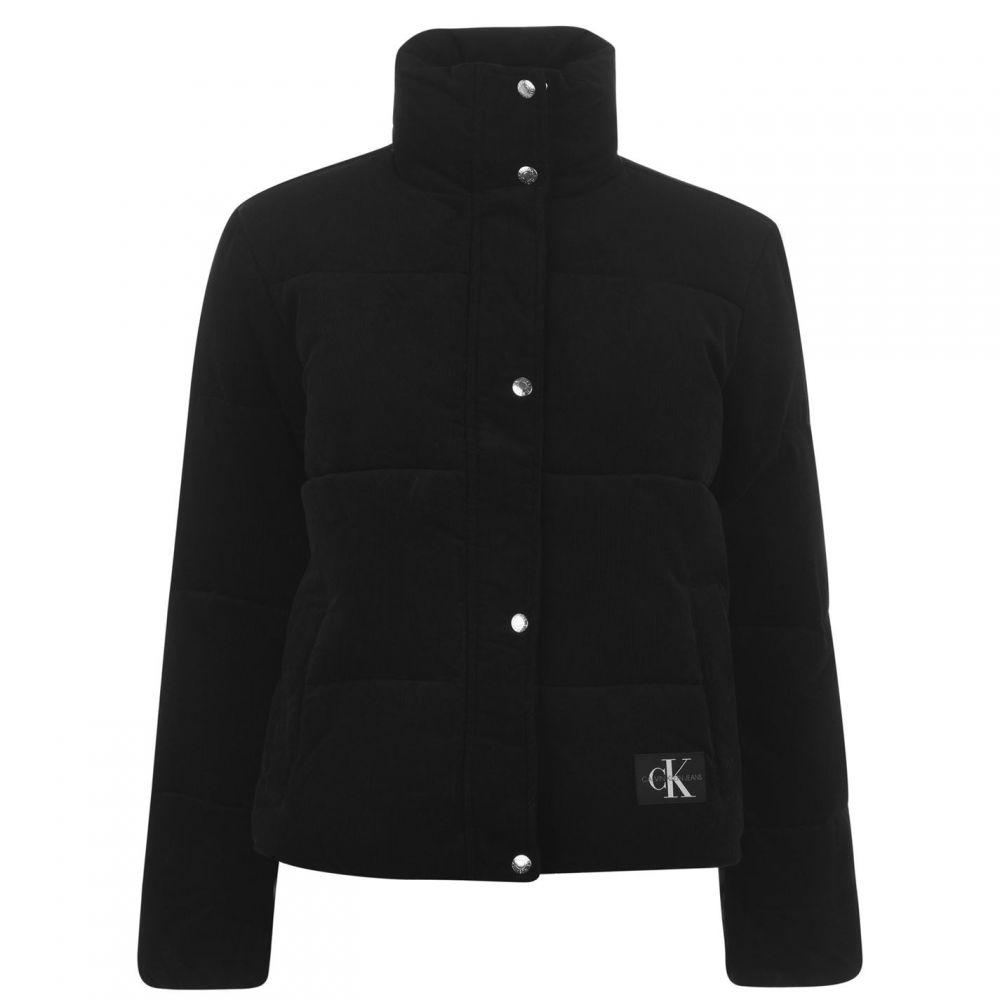 カルバンクライン Calvin Klein Jeans レディース ジャケット アウター【Padded Corduroy Jacket】CK BLACK
