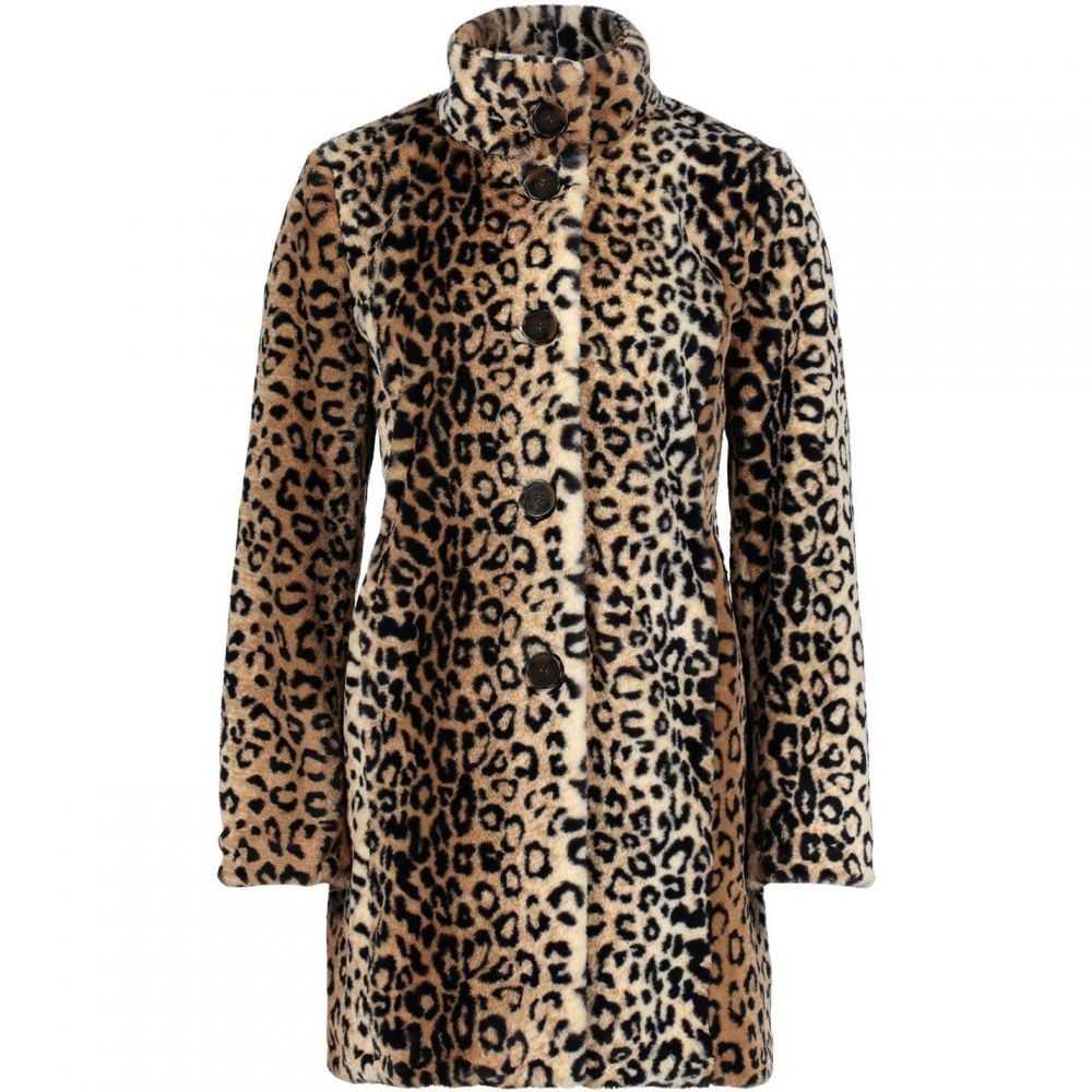 ベティー バークレイ Betty Barclay レディース コート ファーコート アウター【Faux Fur Coat】Camel/Black