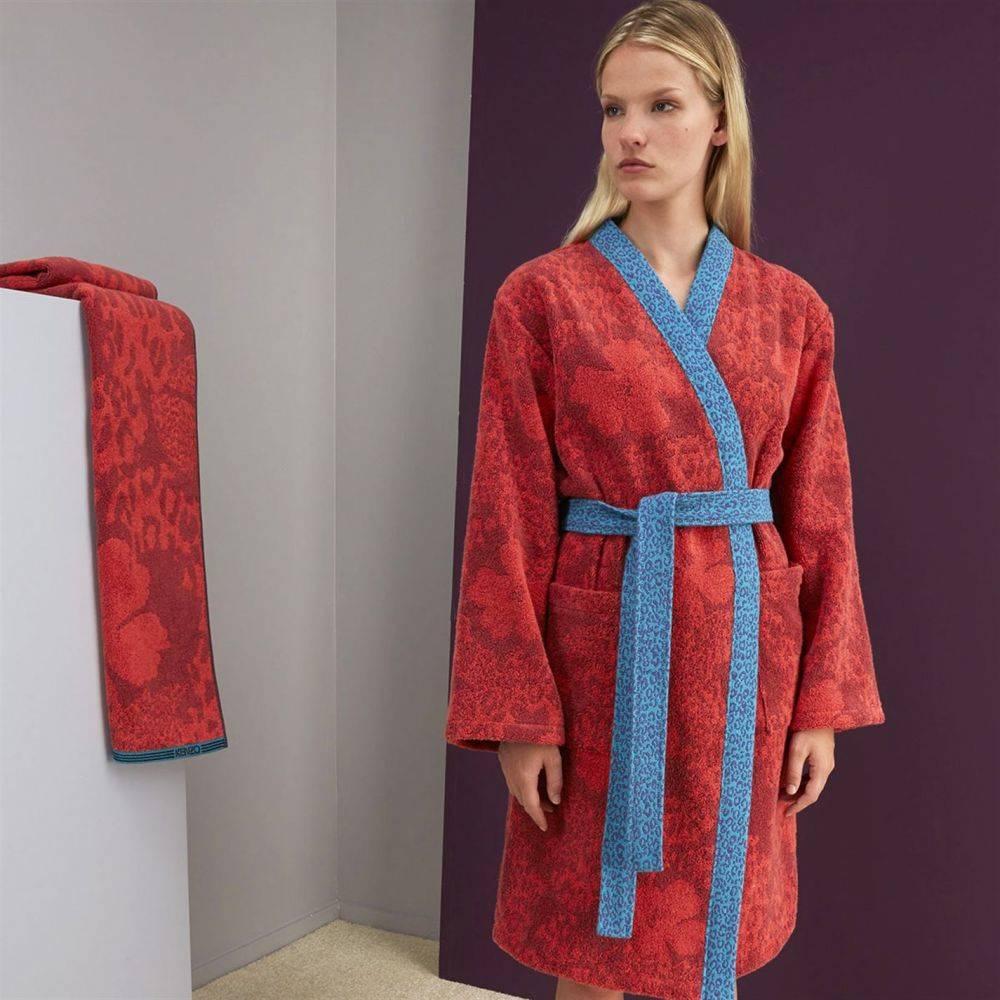 ケンゾー Kenzo レディース ガウン・バスローブ インナー・下着【K Indonesia Bath Robe】Red