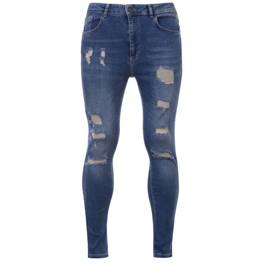 イレブンディグリー 11 Degrees メンズ ジーンズ・デニム リップドジーンズ ボトムス・パンツ【Ripped Skinny Jeans】Mid Blue