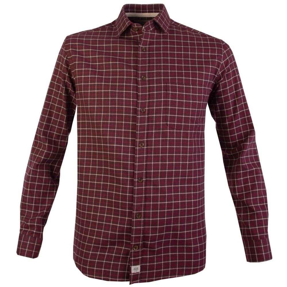 ダブルTWO Double Two メンズ シャツ トップス【Casual Triple Check Shirt】Red