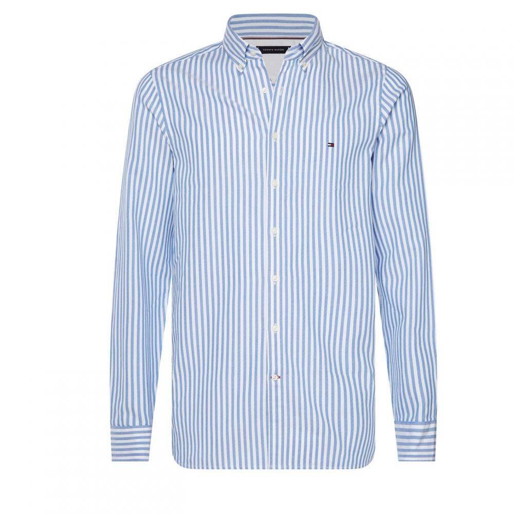 トミー ヒルフィガー Tommy Hilfiger メンズ シャツ トップス【Slim Fit Stripe Shirt】Light Blue/White