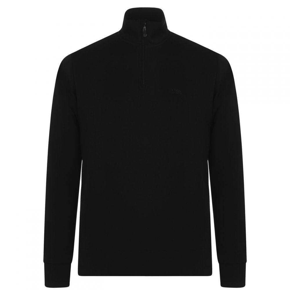 ヒューゴ ボス BOSS メンズ スウェット・トレーナー ハーフジップ トップス【Sweat X quarter Zip Sweater】Black