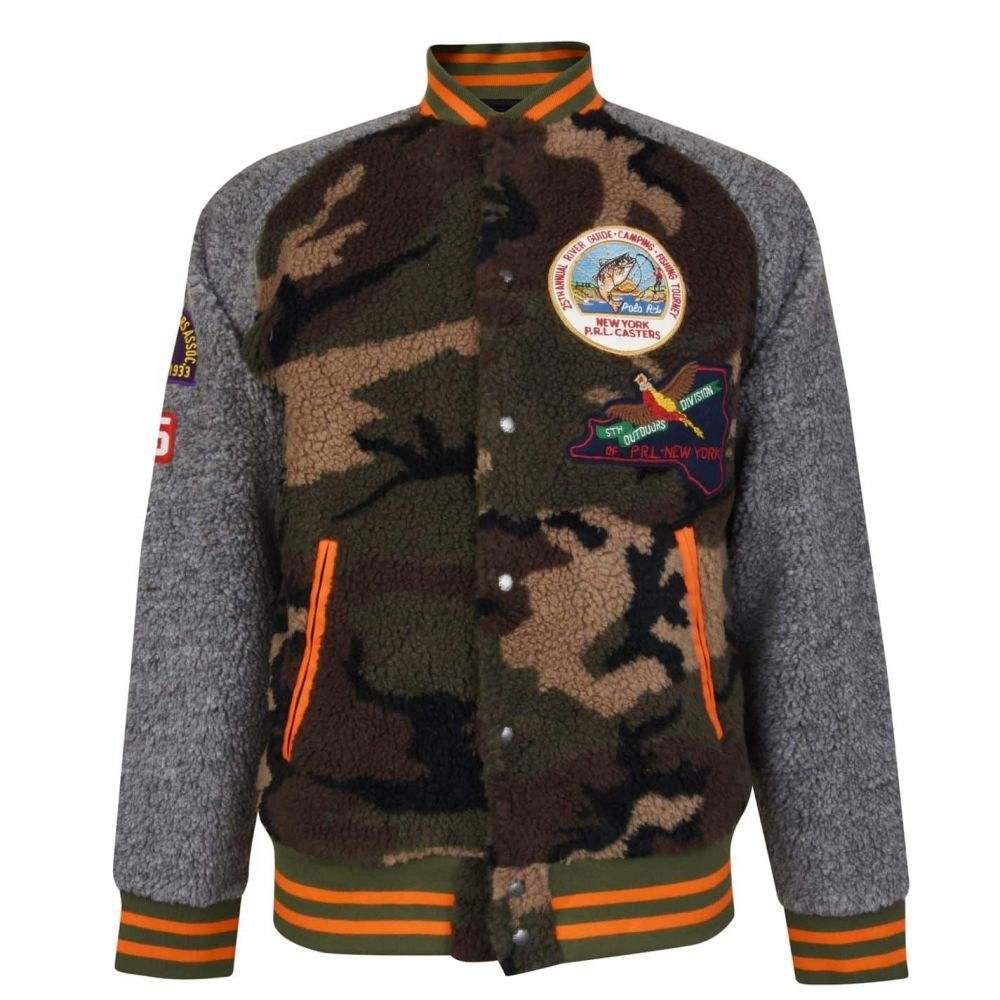 ラルフ ローレン POLO RALPH LAUREN メンズ ブルゾン ミリタリージャケット アウター【Camouflage Fleece Bomber Jacket】Camo/Deep Olive