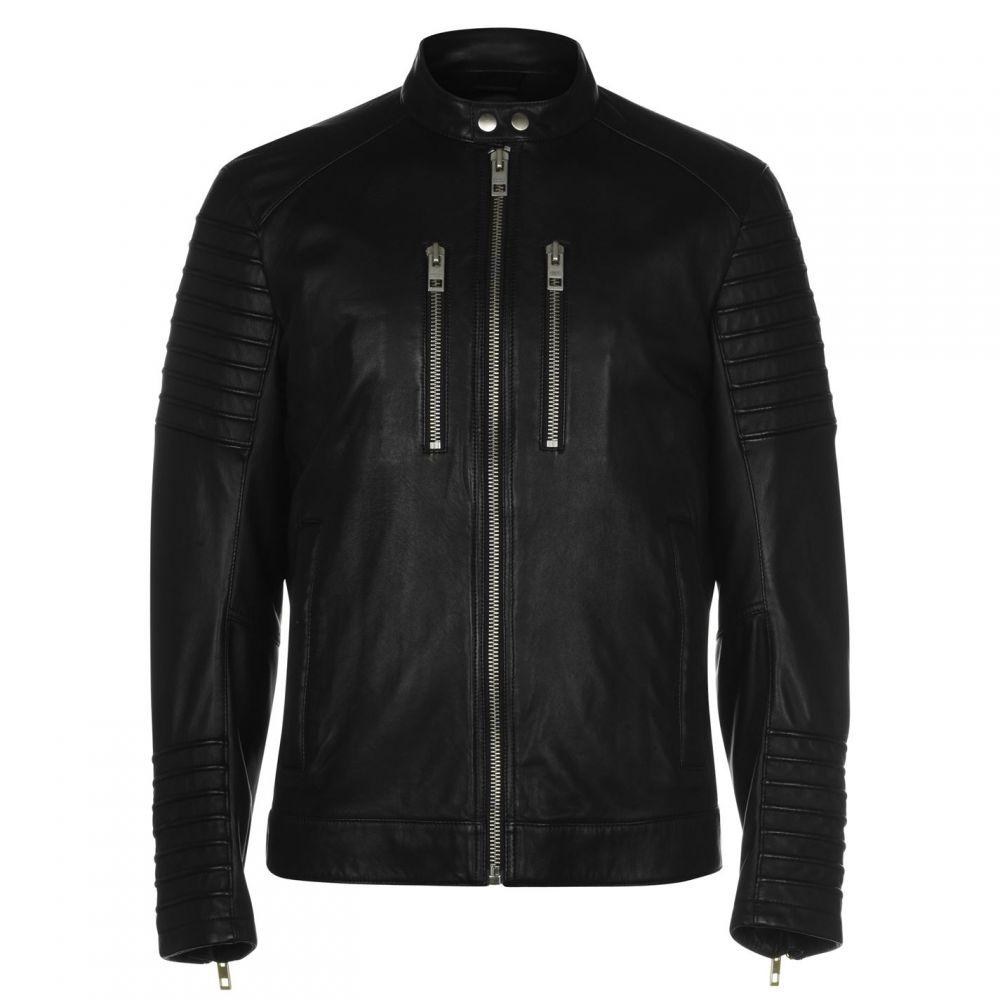 ヒューゴ ボス Boss メンズ ジャケット ライダース アウター【Jordon Biker Jacket】Black