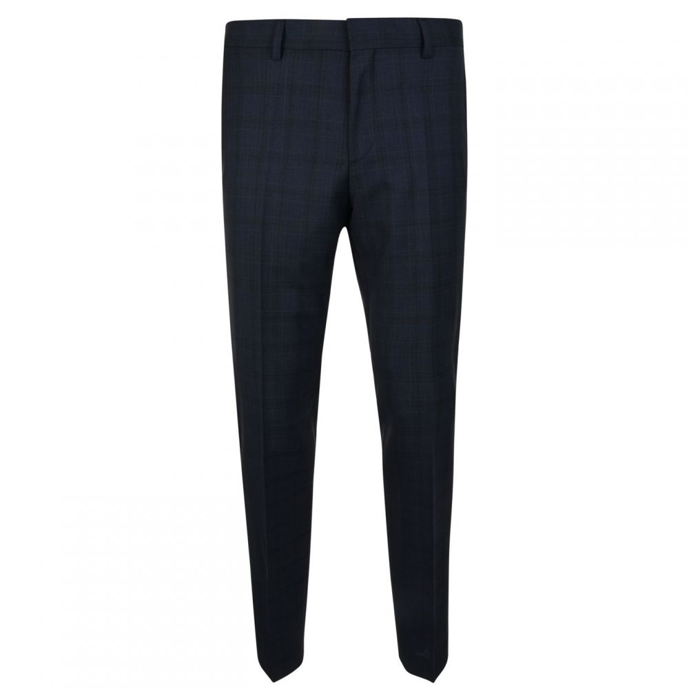 ヒューゴ ボス Hugo Business メンズ スラックス ボトムス・パンツ【Check Trousers】Navy