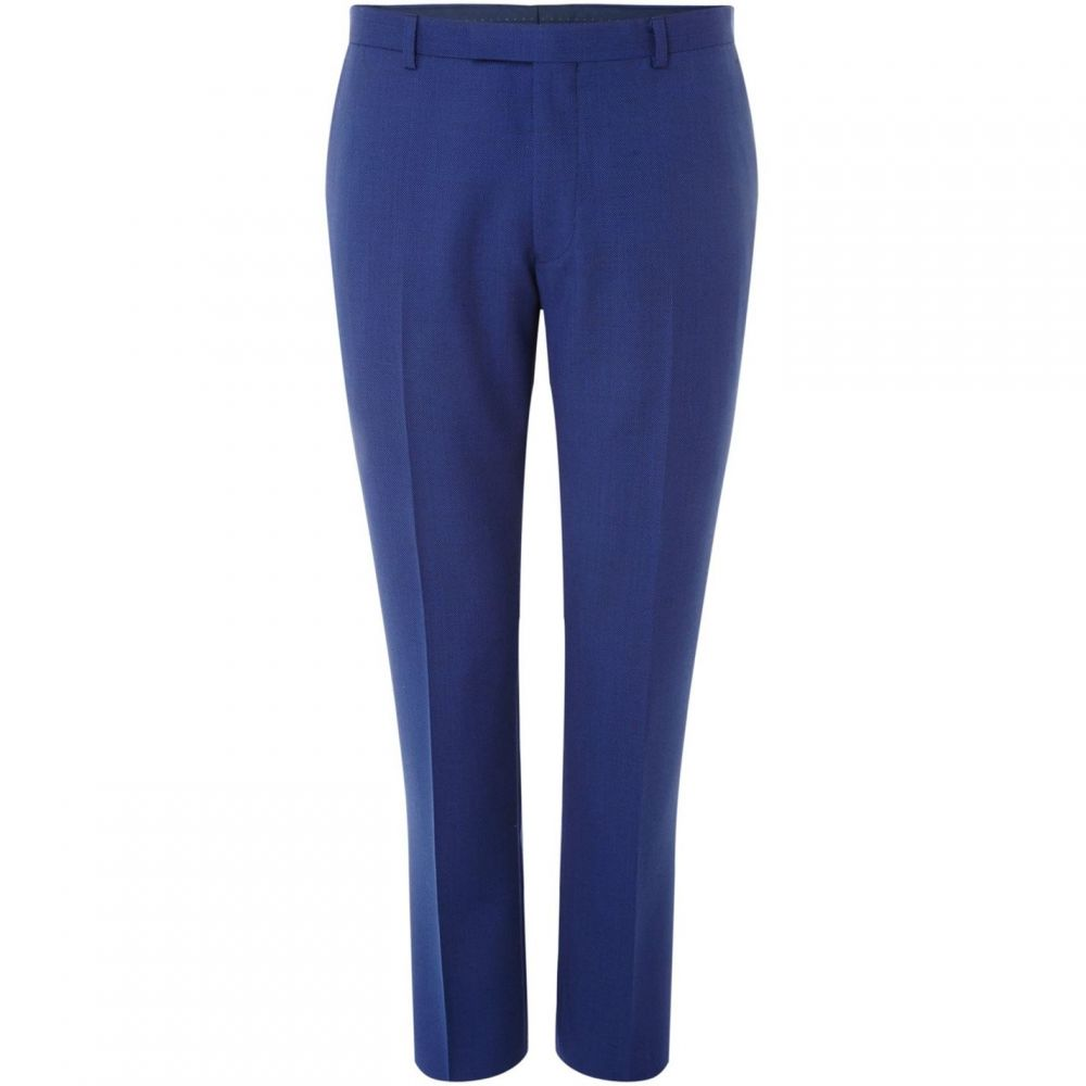 ケネス コール Kenneth Cole メンズ スラックス ボトムス・パンツ【Jefferson Slim Fit Birdseye Textured Trouser】Blue