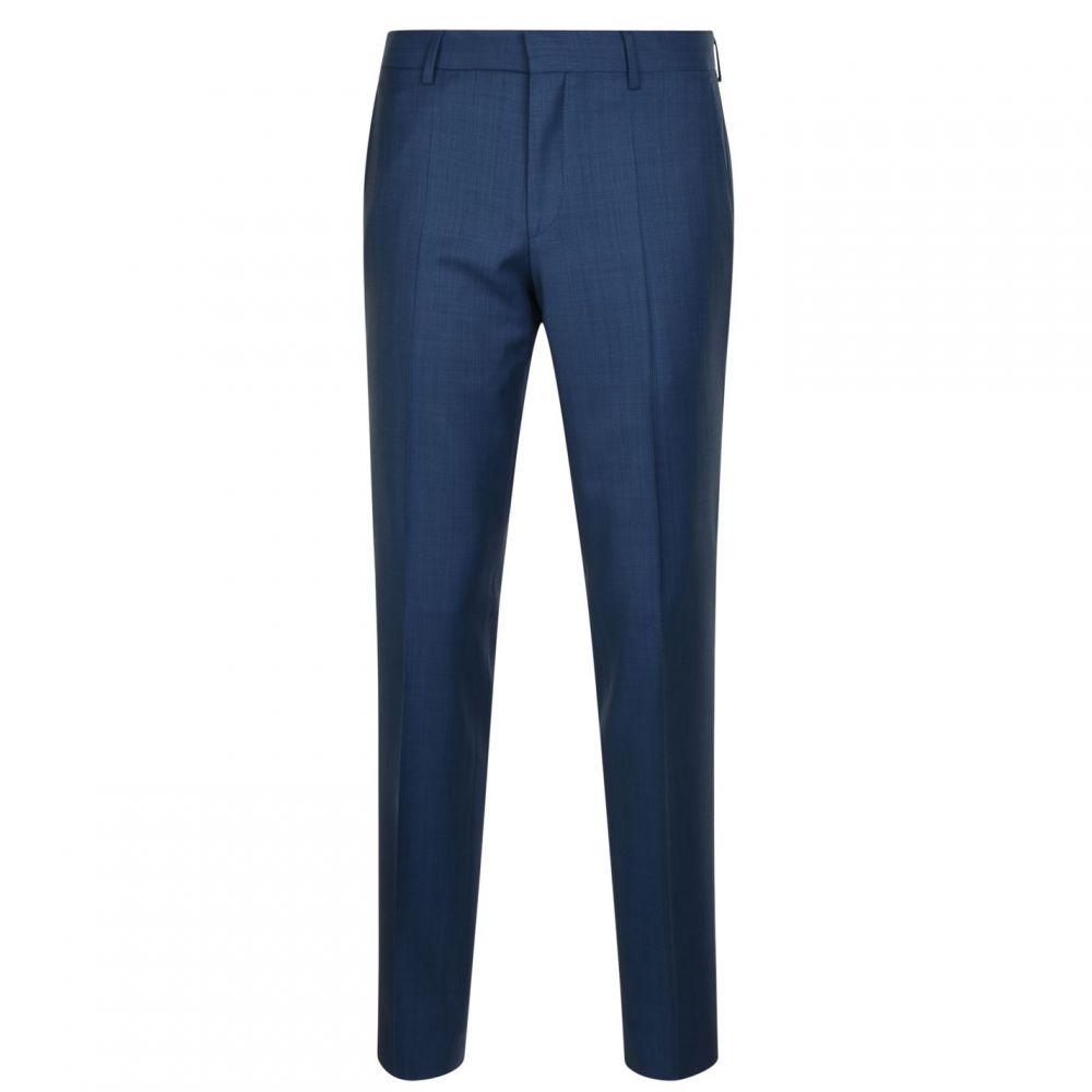 ヒューゴ ボス Hugo Business メンズ スラックス ボトムス・パンツ【Textured Suit Trousers】Mid Blue