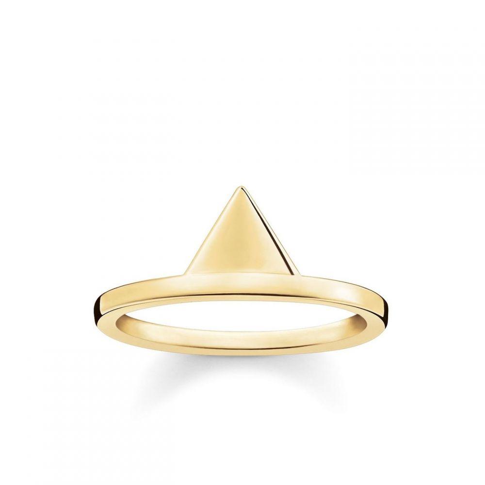 トーマスサボ Thomas Sabo メンズ 指輪・リング ジュエリー・アクセサリー【Triangle yellow gold stacking ring】Metallic