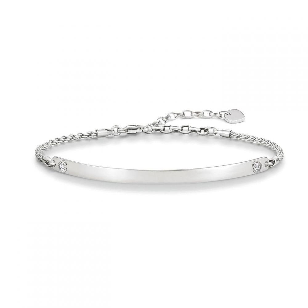 トーマスサボ Thomas Sabo メンズ ブレスレット ハート ジュエリー・アクセサリー【Love bridge silver heart bracelet】Silver