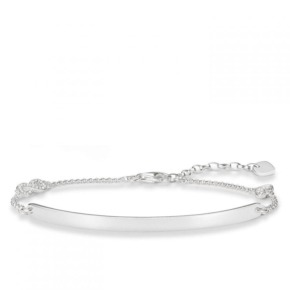 トーマスサボ Thomas Sabo メンズ ブレスレット ジュエリー・アクセサリー【Love bridge silver infinty bracelet】Metallic