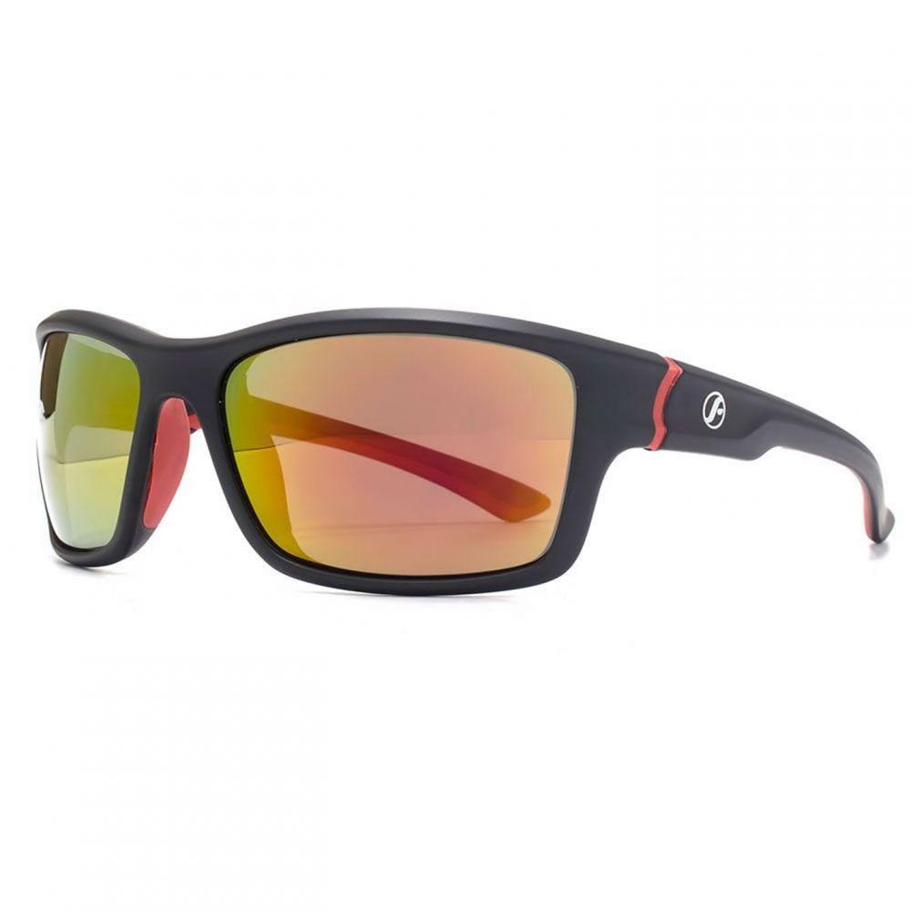 フリーダム Freedom メンズ メガネ・サングラス 【26FRG145410 Blk & Red Rubber Sunglasses】