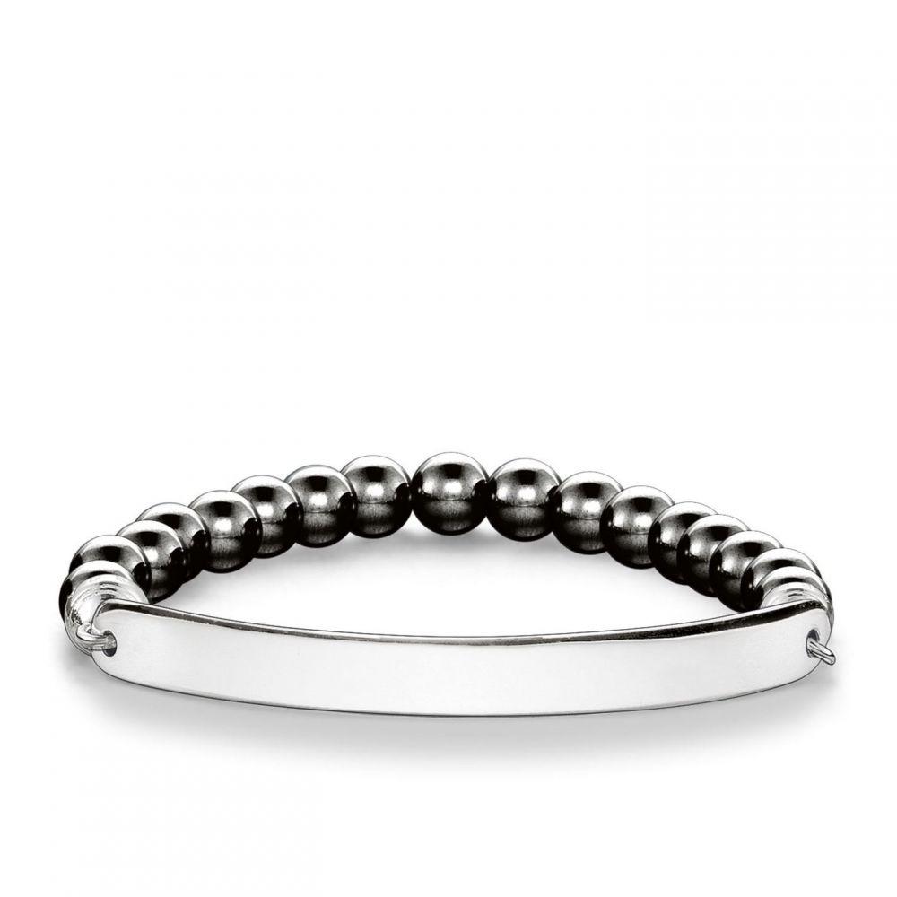トーマスサボ Thomas Sabo メンズ ブレスレット ジュエリー・アクセサリー【Love bridge haematite bracelet】Grey