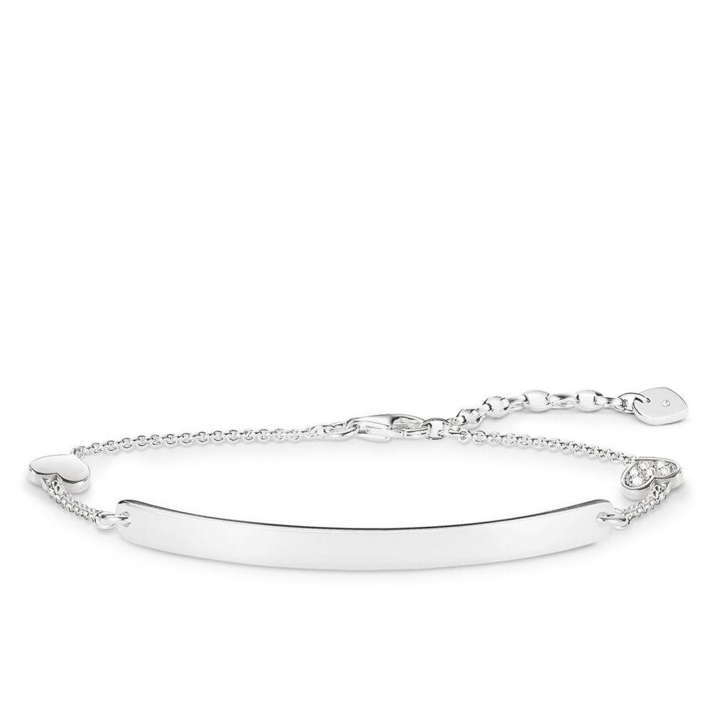トーマスサボ Thomas Sabo メンズ ブレスレット ハート ジュエリー・アクセサリー【Love bridge heart diamond silver bracelet】Metallic