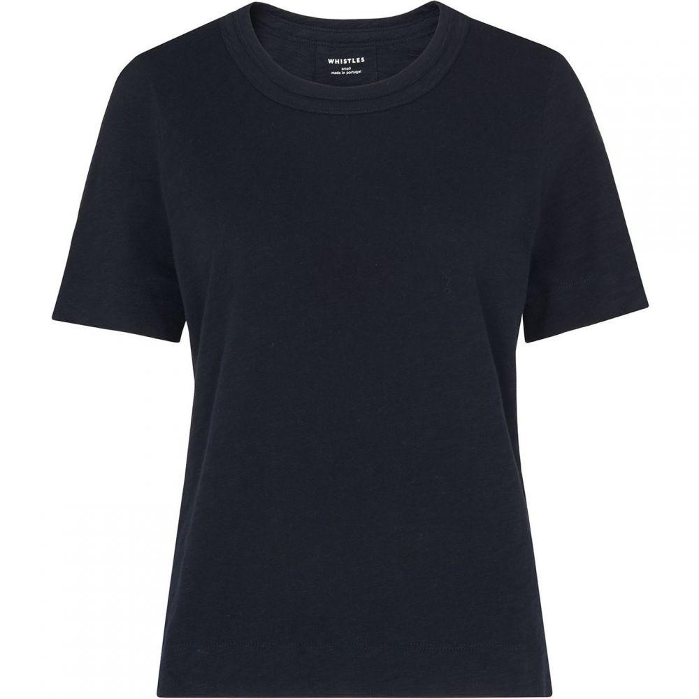 ホイッスルズ Whistles メンズ Tシャツ トップス【Rosa Double Trim T-Shirt】Navy