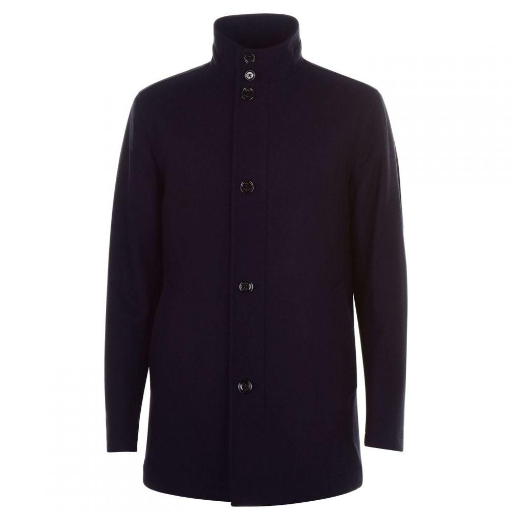 ヒューゴ ボス Boss メンズ コート アウター【Camron Wool Overcoat】Navy