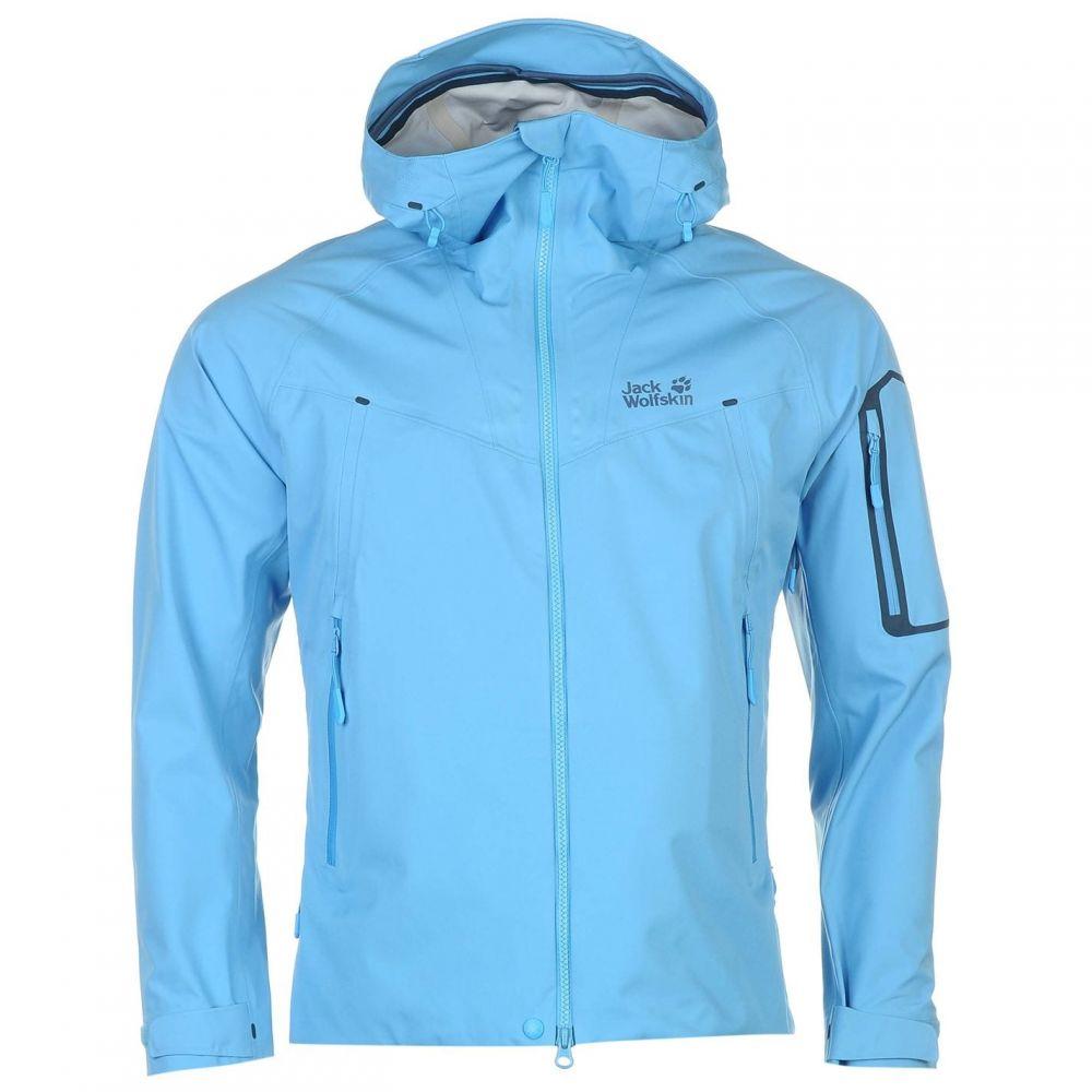 ジャックウルフスキン Jack Wolfskin メンズ ジャケット ソフトシェルジャケット アウター【Exolight Softshell Jacket】Blue