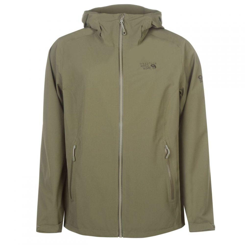 マウンテンハードウェア Mountain Hardwear レディース ジャケット アウター【Stretch Waterproof Jacket】Stone Green