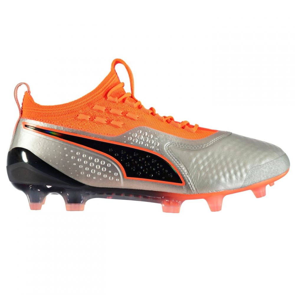 プーマ Puma メンズ サッカー ブーツ シューズ・靴【ONE 1 FG Football Boots】Silver/Orange