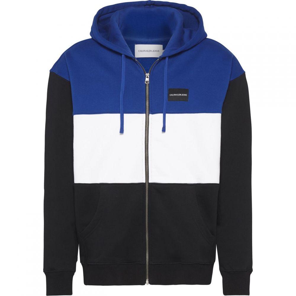 カルバンクライン Calvin Klein Jeans メンズ スウェット・トレーナー トップス【Ckjeans Colourblock Zip Sweater】Multi-Coloured