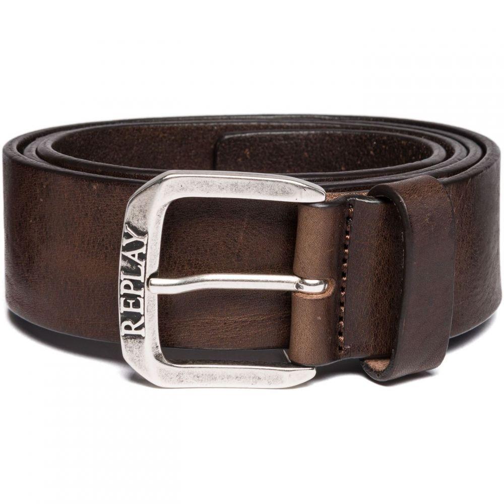 リプレイ Replay メンズ ベルト 【Vintage Leather Belt】Brown