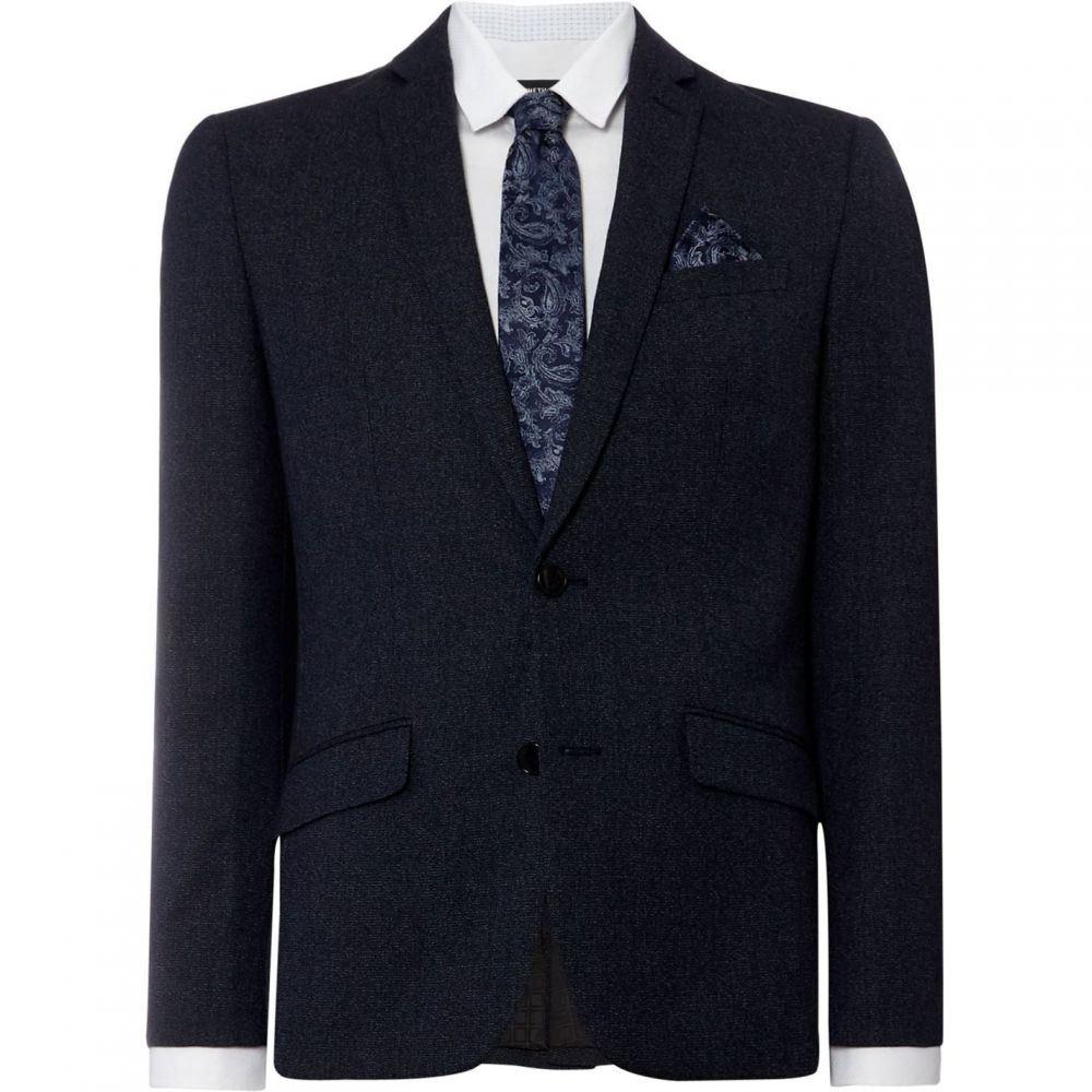 ケネス コール Kenneth Cole メンズ スーツ・ジャケット Gジャン アウター【Portland Slim Fit Denim Texture Suit Jacket】Navy