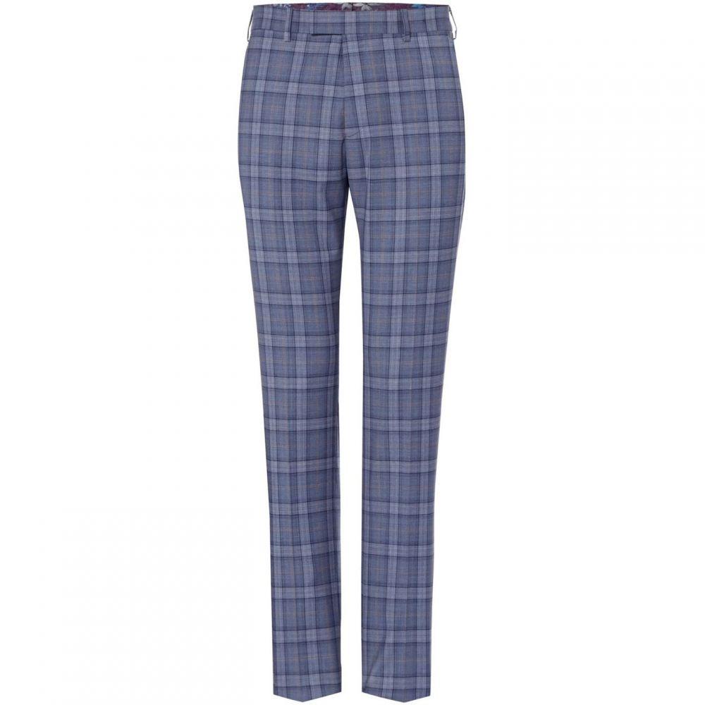 テッドベーカー Ted Baker メンズ スラックス ボトムス・パンツ【Alram Slim Fit Checked Trousers】Light Blue