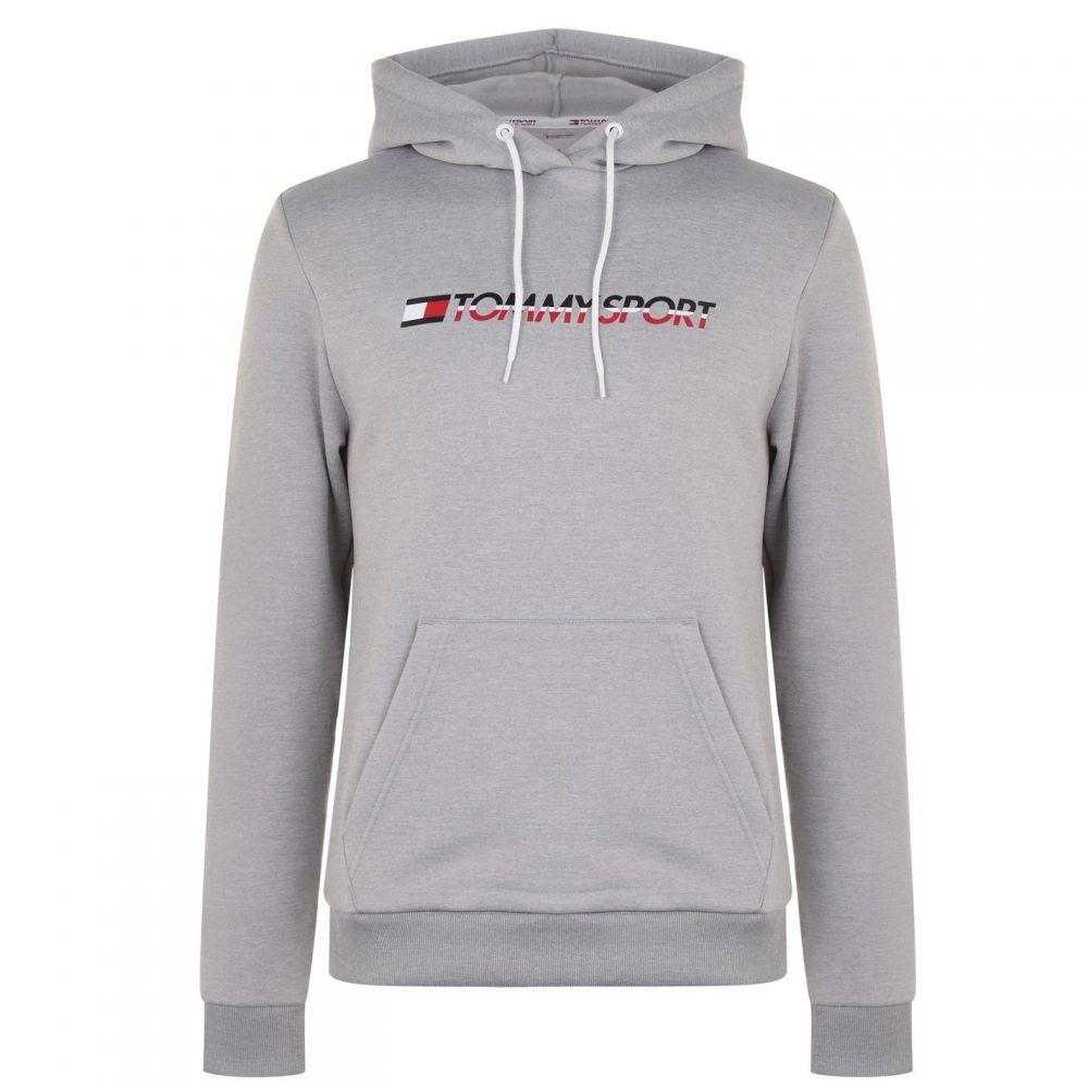 トミーヒルフィガー Tommy Sport メンズ パーカー トップス【Fleece Logo Hoodie】Grey Heather