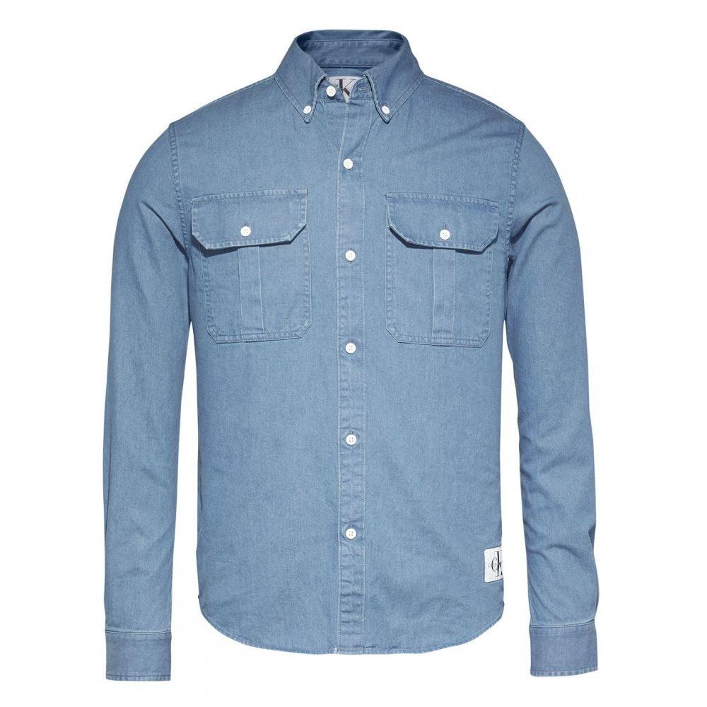 カルバンクライン Calvin Klein Jeans メンズ シャツ トップス【Indi Regular Long Sleeve Shirt】Indigo