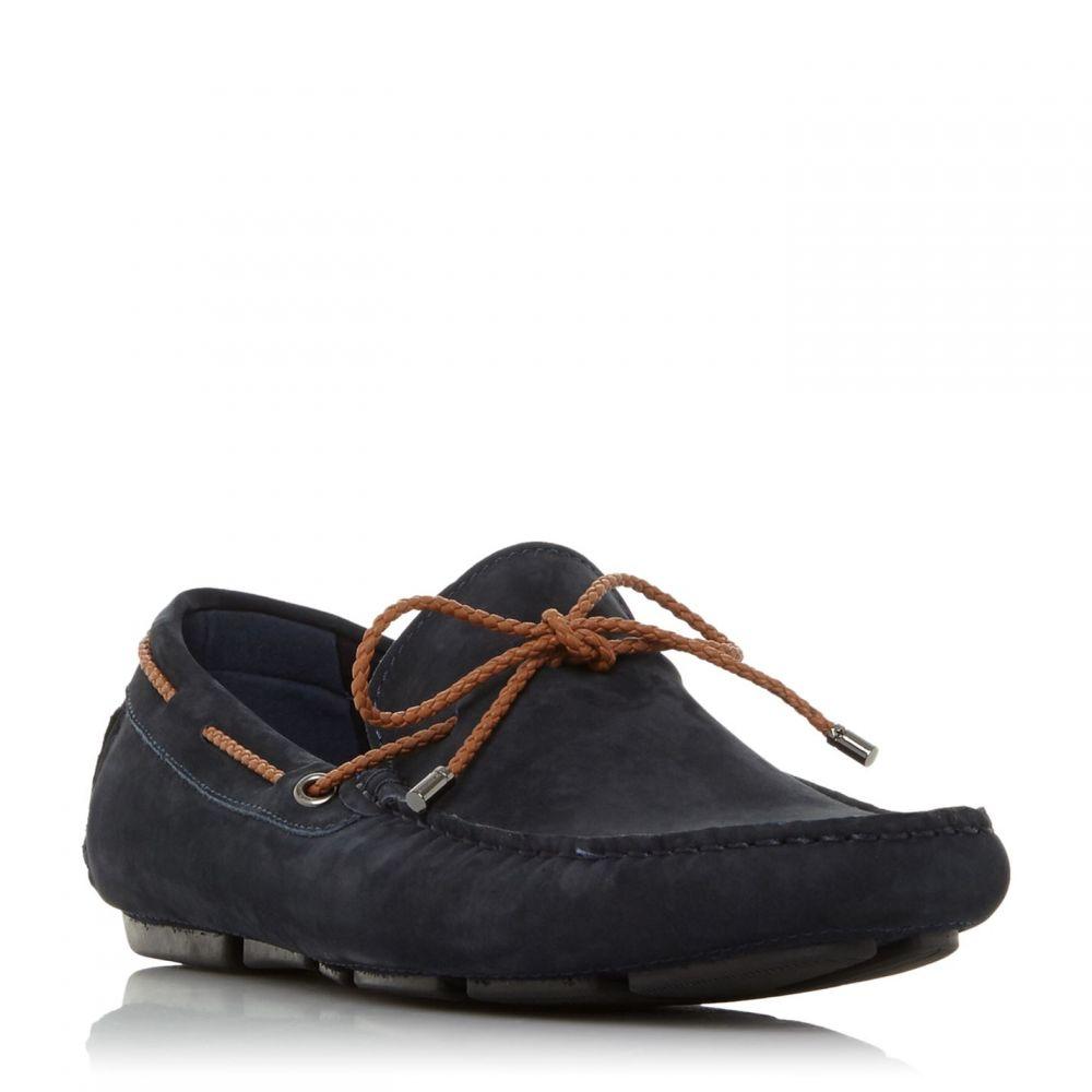 デューン Dune メンズ ドライビングシューズ シューズ・靴【Brandstable Plait Lace Driver Shoes】Navy