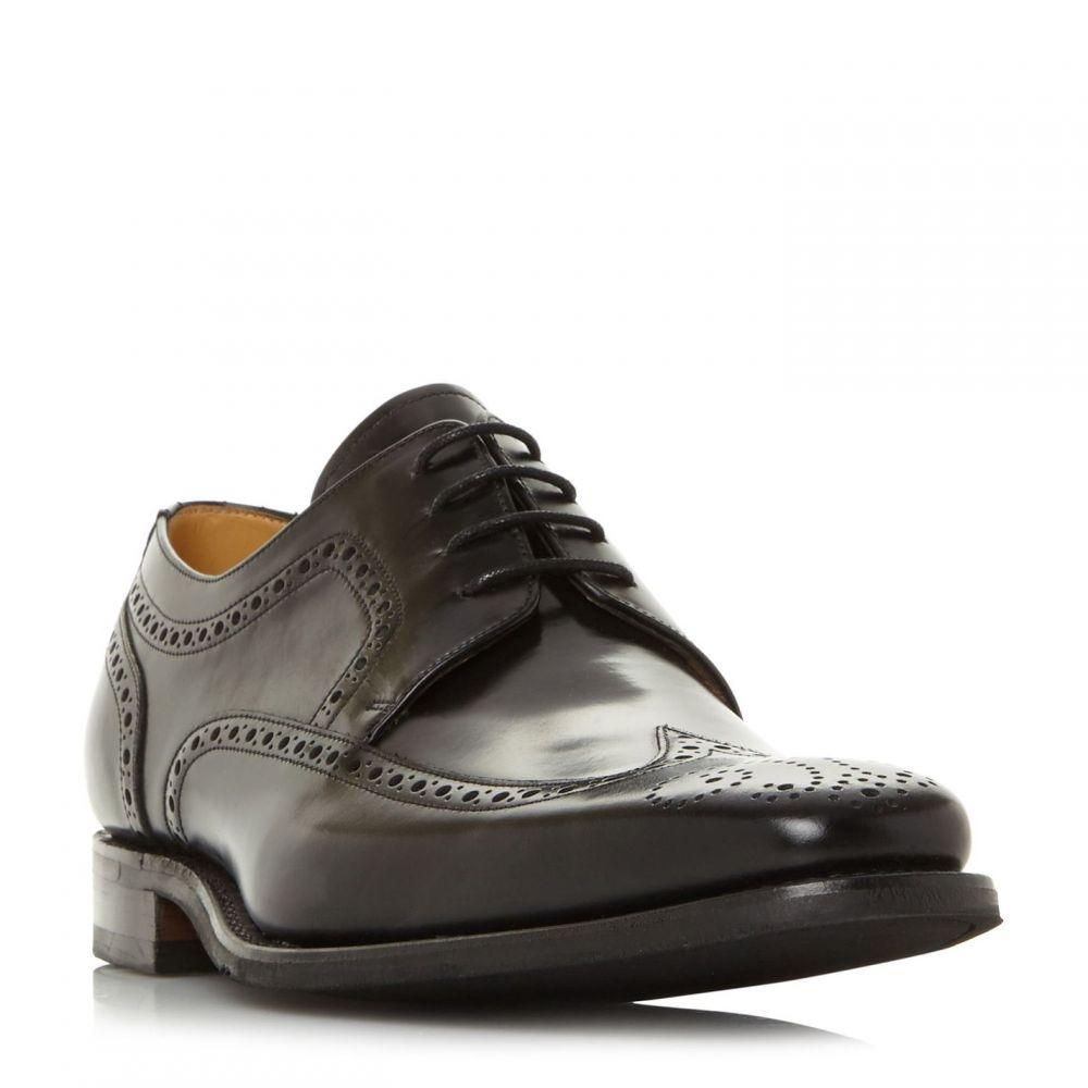 バーカー Barker メンズ 革靴・ビジネスシューズ メダリオン レースアップ シューズ・靴【Larry Lace Up Brogue Shoes】Black